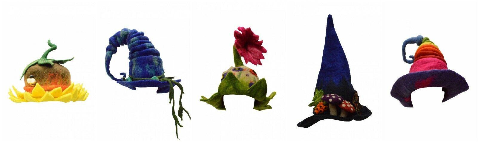Hecho a Mano de Moda Fieltro Fantasy Sombrero Bruja Mágico Tendencia Maravillas