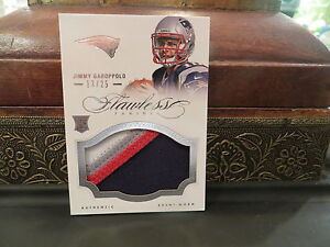Panini Flawless Event Worn Jersey Rookie Patriots Jimmy ...