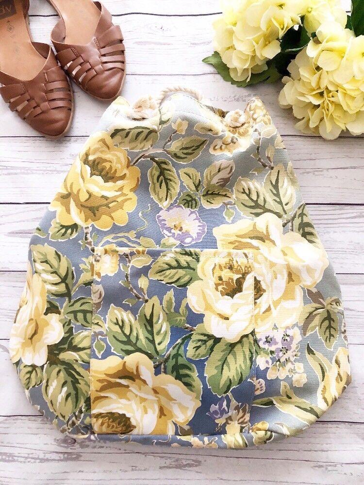 Vintage 1990's Laura Ashley Floral Cinch Backpack… - image 1