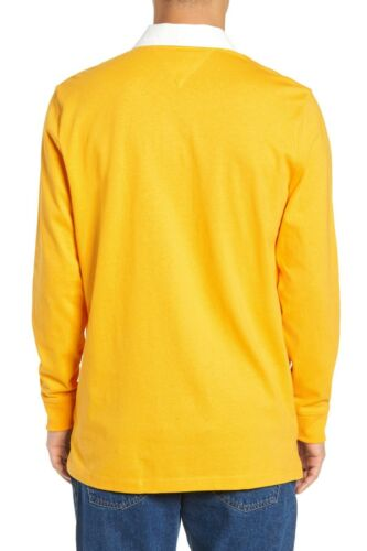 Details about  /Tommy Hilfiger Jeans Men/'s Yellow TJM Essential Rugby Long Sleeve Polo Shirt