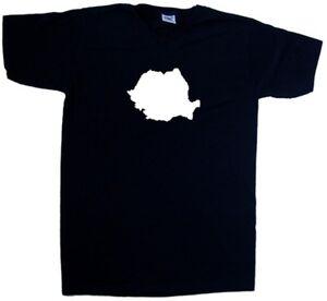 Image Is Loading Romania Outline V Neck T Shirt