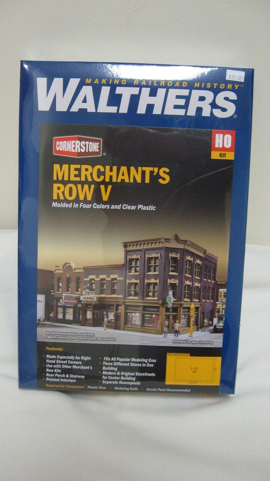 Kit  HO scale 4041 Walthers Cornerstone Merchant/'s Row V 5
