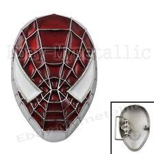 Cool Super Hero Spider-Man Spiderman Mask Removable Metal Belt Buckle #02