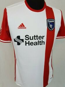 premium selection ea980 a43bf Details about San Jose Earthquakes MLS Soccer 2017/2018 Adidas Away Jersey  Size Small