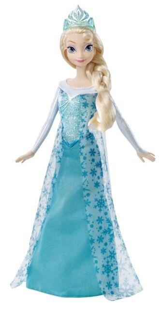 "2014 Disney Frozen Sparkle Princess Elsa Doll 12"" Ship Fast"