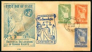 Philippine-1951-Universal-Declaration-of-Human-Rights-FDC-B