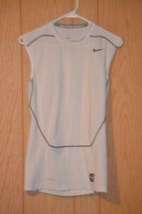 NEW Nike Drifit Compression Sleeveless Tee Shirt White 533324-100 XXL 2XL S/L