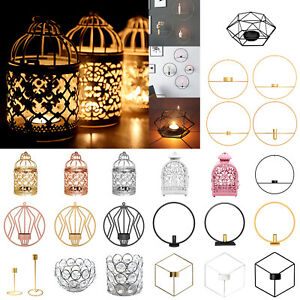 Geometric-Candlestick-Metal-Wall-Tealight-Candle-Holder-Sconce-Home-Decor-Craft