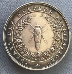 Sterling-Silver-Berks-Bee-Keepers-039-Association-Watch-Fob-Awards-Medal