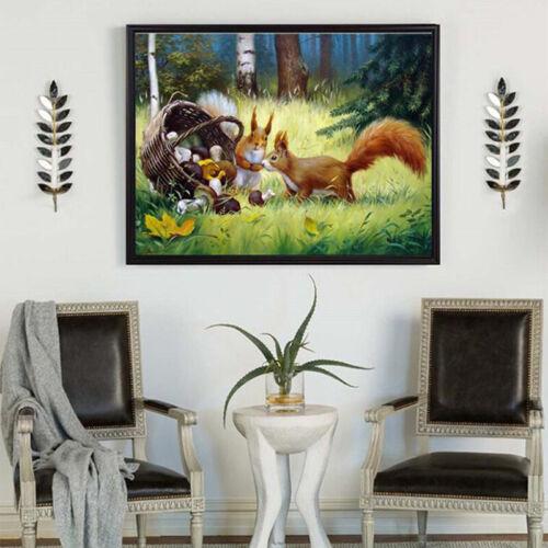 Cross Stitch Faux Diamond 30cmx40cm 5D Square Animal Fox Home Room Decor Kit L
