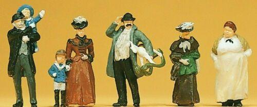 Neu handbemalt Passanten um 1900 6 Figuren Preiser 12176 H0