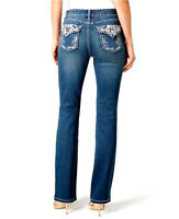 Woman's Earl Jeans Size 14 Embroidered Bling Me Slimboot Cute