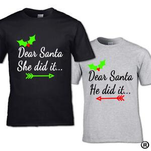 c9b1ea7a4 Dear Santa and But Santa T-shirt kids Christmas Snow family Elf Xmas ...
