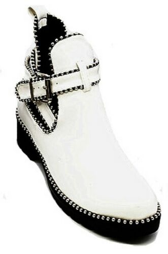 Womens Ladies Ankle Boots Chelsea Cut Out Buckle Mid Strappy Low Heel Shoes Size