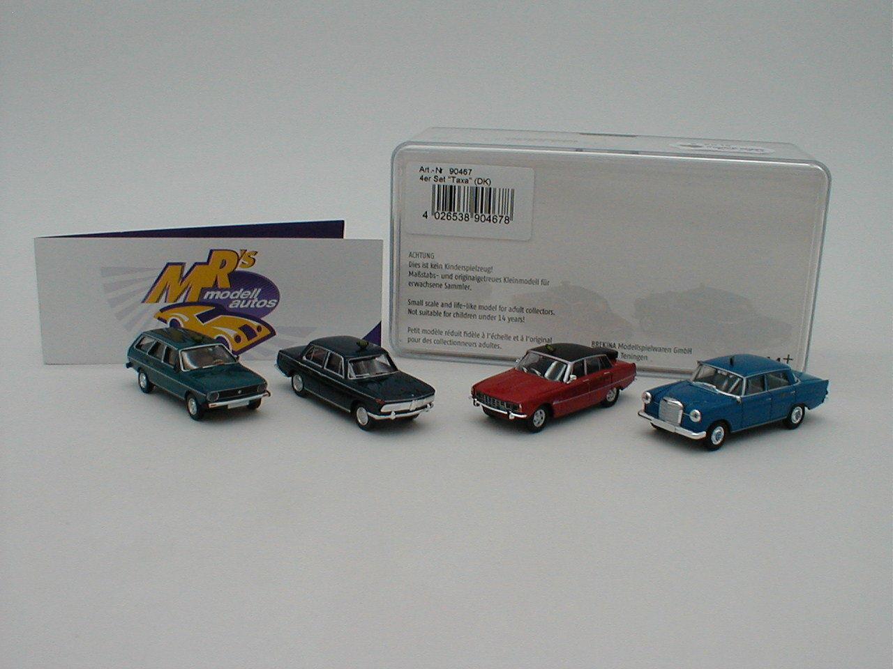 Brekina 90467-Saver Set 2  BMW, Mercedes 190c, Rover, VW PASSAT' 1 87 NEW