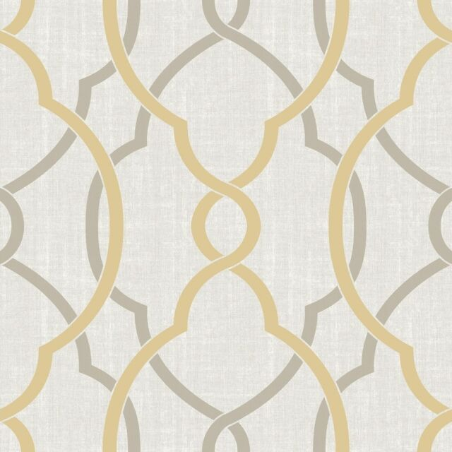 Brewster Wallcovering 30 Sq Ft Yellow Vinyl Geometric Peel And Stick Wallpaper For Sale Online