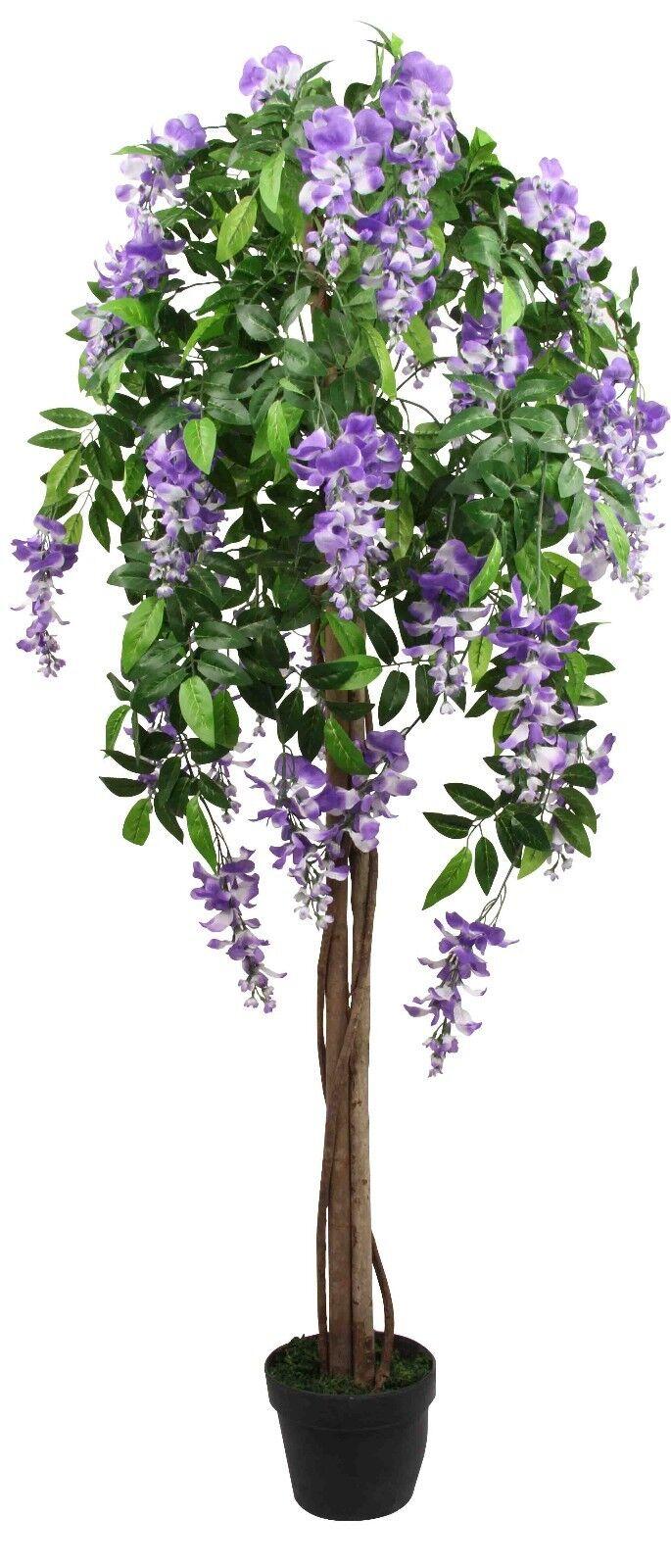 Artificielle wisteria en Pot Plante Jardin Intérieur ou Extérieur Jardin Plante Grand Arbre hauteur 5 FT (environ 1.52 m) 57217b