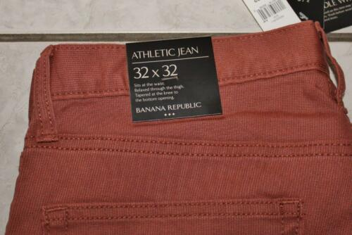 NEW NWT Mens Banana Republic Athletic Fit Stretch Corded Jean 5 Pocket Pants *F2