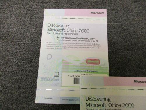 Microsoft Office 2000 Premium and Professional Full Version NO CD