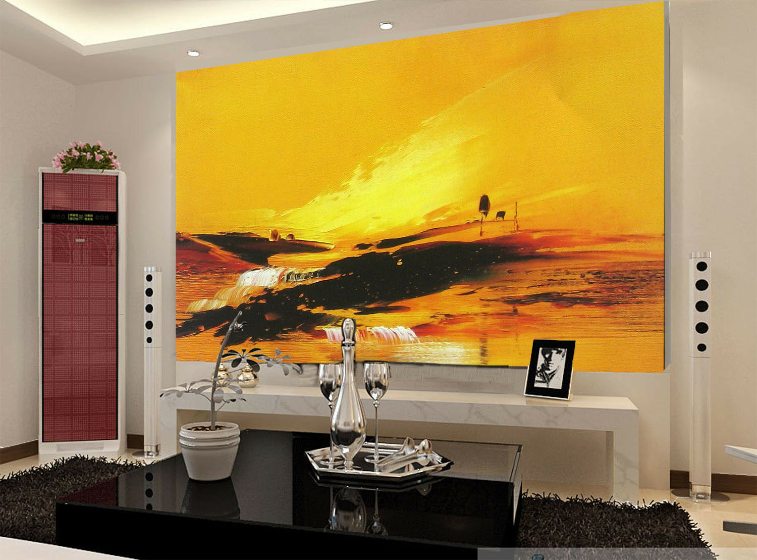 3D Sunrise Paint 724 Wallpaper Mural Paper Wall Print Wallpaper Murals UK Lemon