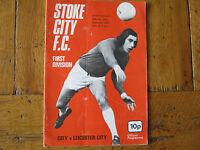 PROGRAMME STOKE CITY v LEICESTER CITY DIV1     30.11. 1974  EX CONDITION   FC