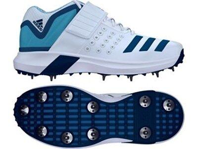 2019 adidas adiPower Vector Mid White Blue Cricket Shoes UK 6 11 Inc 12 Sizes | eBay