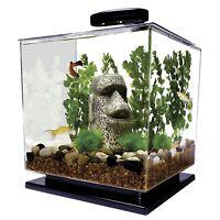Aquarium Fish Tank 3 Gallon Light LED Tetra Cube Betta Goldfish Tropical Bowl