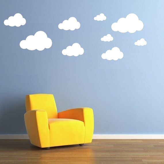 CLOUDS Wall Stickers - 22 stickers in 3 sizes in each pack