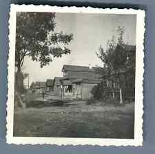 Russie, Village Russe. изба. Maison traditionnelle Russe en bois  Vintage silver