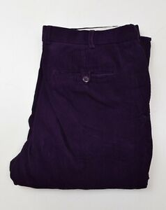 J2465-MARKS-AND-SPENCER-MEN-039-S-MAUVE-CORDUROY-TROUSERS-W34-L33