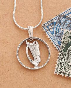 Details about Silver Irish Harp Pendant , Irish Coin Jewelry, Irish Harp  Necklace, ( # 164S )