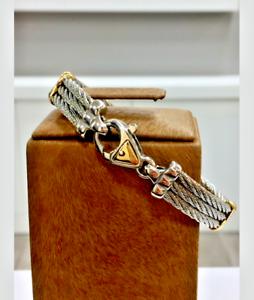 Bracelet-Homme-Jonc-or-18-carats-et-Acier
