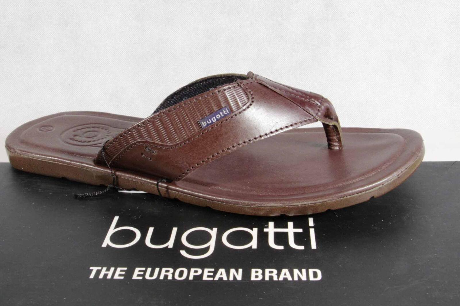 Bugatti Toe Sandal Mules Brown Genuine Leather NEW