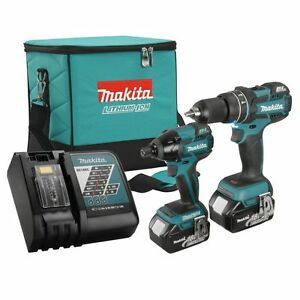 Makita DLX2002TX 18V LXT 5.0 Ah Li-Ion Brushless Cordless 2-Tool Combo Kit