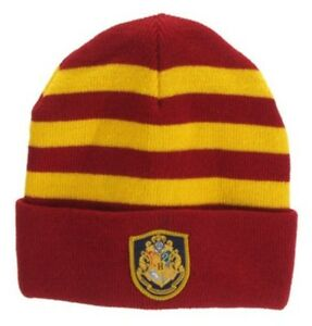 a7cb4f5424d Image is loading Harry-Potter-Hogwarts-School-Beanie-Hat-with-Embroidered-