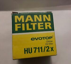 New-Genuine-Mann-Engine-Oil-Filter-HU711-2x-Top-Quality