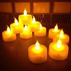 12pcs Candles Tealight Led Tea Light Flameless Flickering Wedding Battery Includ