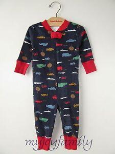 878198e27 HANNA ANDERSSON Baby Organic Zip Sleeper Day Tripper Cars Navy 50 0 ...
