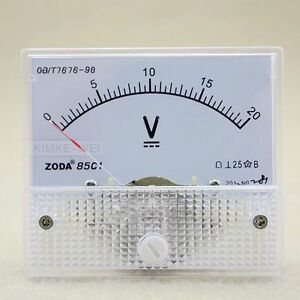 DC-0-20V-Analog-Volt-Voltage-Panel-Meter-Voltmeter-Gauge