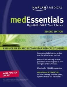 Details about medEssentials: High-Yield USMLE Step 1 Review (Kaplan  Medessenitals for the