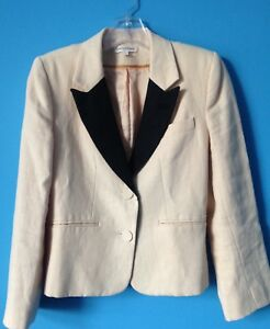 Womens 4 noir Tuxedo Emerson Jacket 100 eu lin revers Made naturel p5UqgwxB