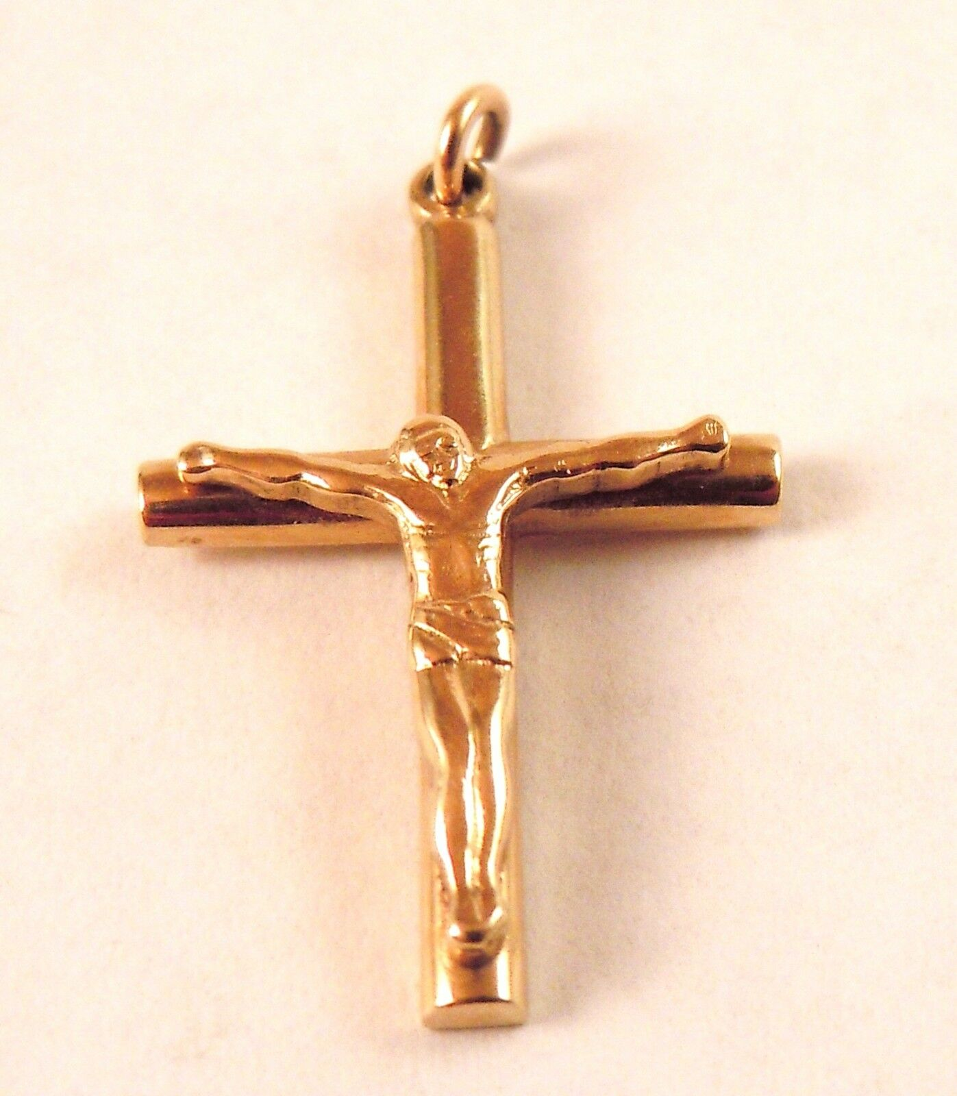 100% Genuine Vintage 9k Solid Yellow gold Crucifix Cross Pendant or Charm