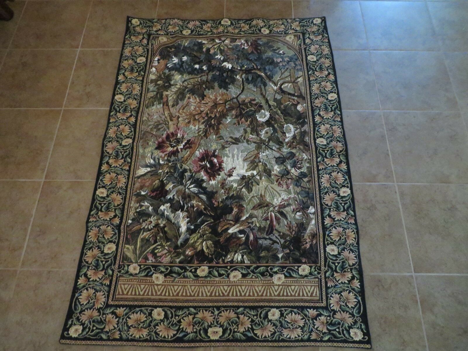 Riddle Home & Gift Tapisserie Monet Inspiré Floral Tapestry Wall Hanging 76 x 51