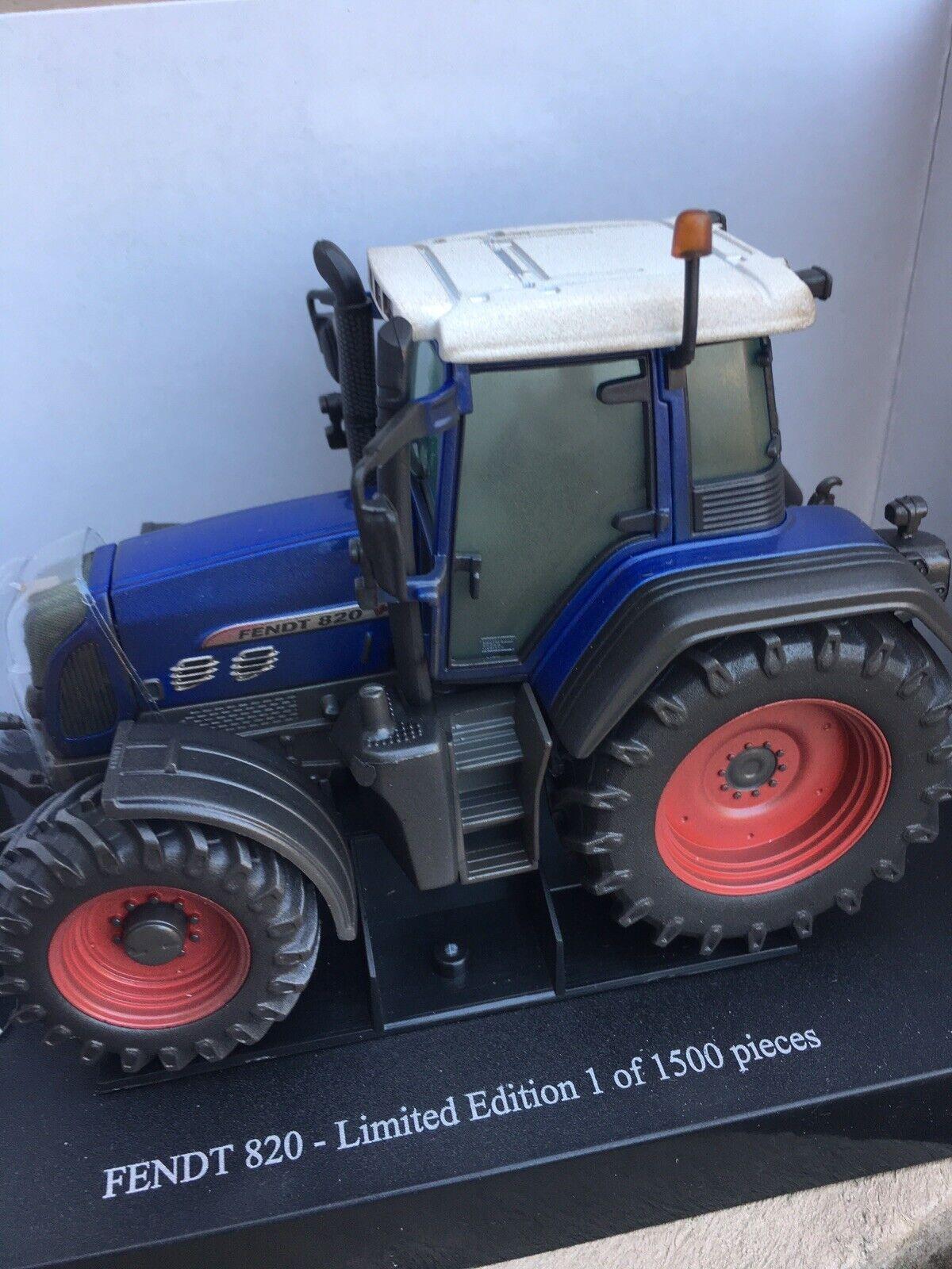 Dusty Weatherot Universal Hobbies Blau Fendt 820 Tractor 1 32 Scale TRAKTOR