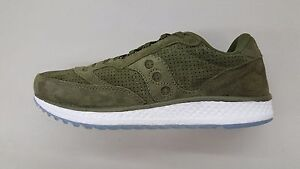 0836062b92be SAUCONY FREEDOM RUNNER SUEDE GREEN WHITE ICE SOLE MENS SIZE SNEAKERS ...