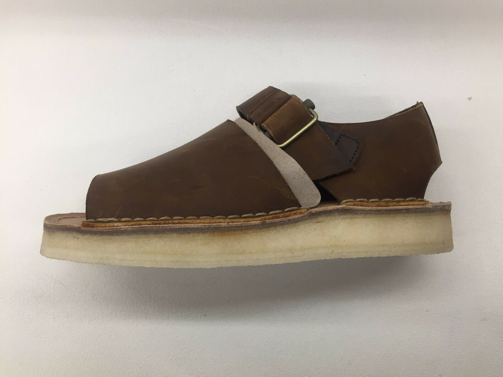 CLARKS ORIGINALS TREK STRAP Marroneee LEATHER CREPE MENS CLOSED CLOSED CLOSED TOE SANDALS 22994 5a4e72