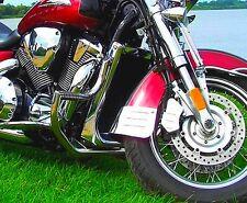 STAINLESS STEEL CUSTOM CRASH BAR ENGINE GUARD + PEGS HONDA VTX 1800 NEO RETRO