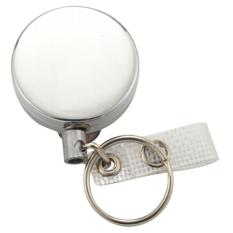 2 Pack Heavy Duty Retractable Badge Holder Reel,Metal ID Badge Holder with W3B4