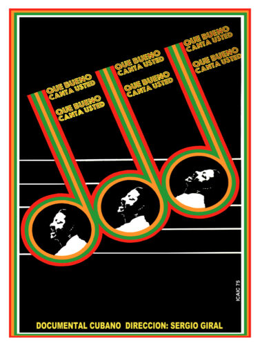 785.Cuban movie Poster.Powerful Graphic Design.Benny More,que bueno baila usted