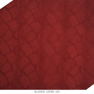 Cowhide-Reptile-Design-2-5-mm-Thick-A4-Format-Red-Real-Leather-Skin-Leather-71